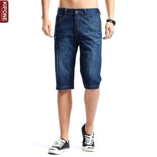 牛仔7分裤男装旗牌王 潮 牛仔七分裤男 直筒薄款休闲水洗 中低腰