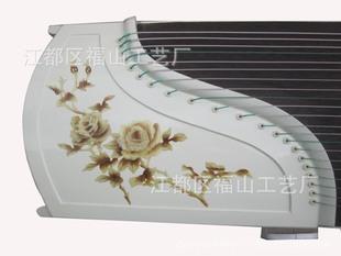 扬州古筝 厂家批发 红木白色钢琴烤漆月季款高档古筝 多图备选