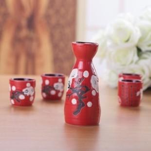 生产陶瓷酒具 礼品酒具 高档白瓷酒具 陶瓷一壶四杯 日式青花酒具