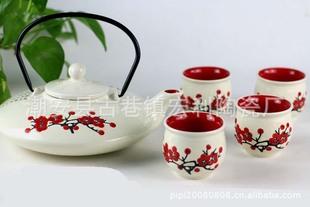 供应日式茶具 畅销时尚茶具 手绘创意茶壶 热卖个性结婚回礼茶具