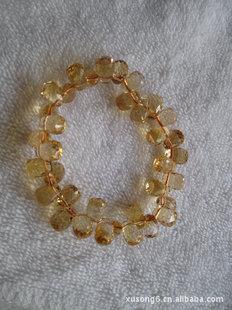 天然黄晶手链