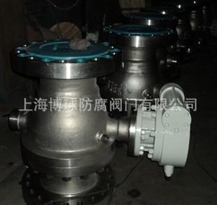 蜗轮传动法兰固定式球阀,不锈钢材质,Q347F/H型号