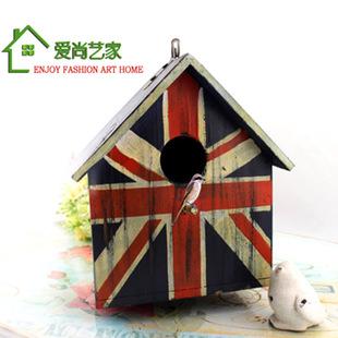 宠物用品厂家直销英国国旗色鸟笼 木鸟屋 玩具鸽子笼 一件代发