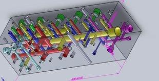 代做加工设计液压集成块03图片