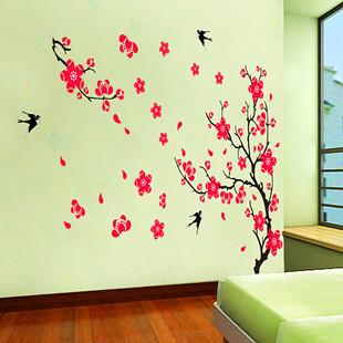 可移除墙贴 818桃花朵朵