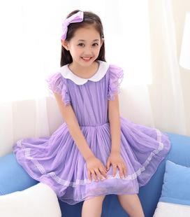 2014外贸夏季童裙批发 韩版网纱儿童公主裙  女童连衣裙一件代发