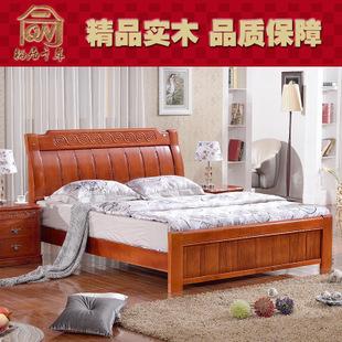 实木家具创意欧式雕花木床