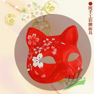 彩绘面具 纯手绘艺术 日式和风