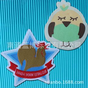 厂家直销 可爱布贴 卡通布标织标织唛 服饰饰品 水洗标logo 特价