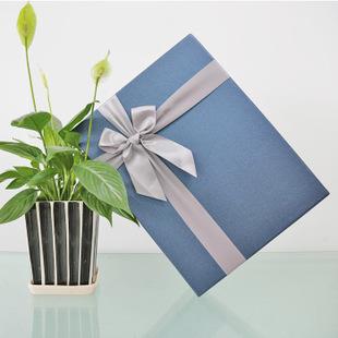 盛德新款欧式商务长方形礼品包装盒送衬衫丝巾高档