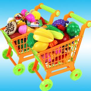 批发儿童购物车 手推 超市玩具推车 食物车 水果车 过家家玩具