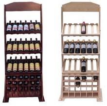 销红酒展销架 葡萄酒木制展销架 6瓶/8瓶木酒架 多层木质展销架
