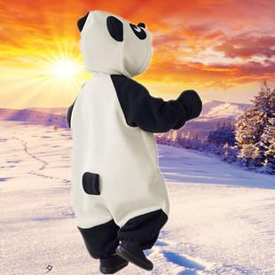 动物造型连体哈衣婴幼儿套装熊猫