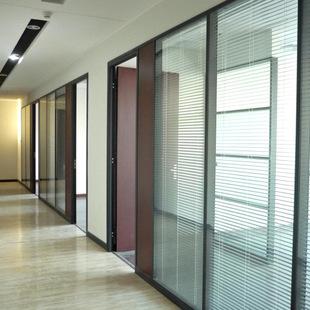 l80款成品专属办公室时中空百叶玻璃隔断 单玻通透成品隔断直销图片