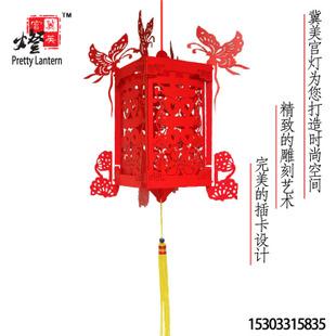 厂家直销福字大红灯笼 铁丝编织花桶灯笼 古典 可定制