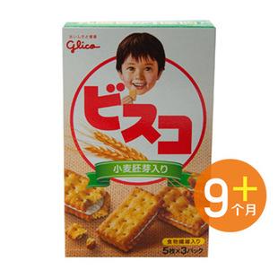 日本原装进口 固力果 乳酸菌小麦胚芽奶酪夹心宝宝饼干15枚