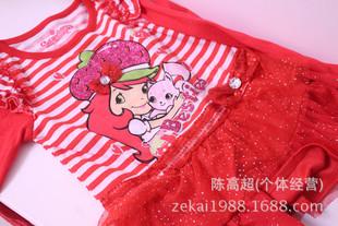 韩国原单 草莓公主 STRAWBERRY 女童连衣裙 童裙 蕾丝 秋款牛货