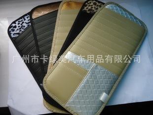 得然福高档汽车遮阳CD板 方格皮质CD板
