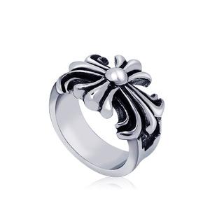时尚男女士谢霆锋十字花纹戒指