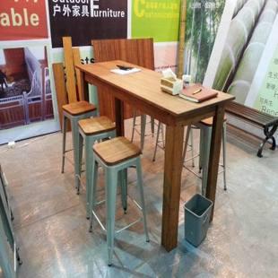 户外竹木桌子/深碳色户外桌子/浅碳色户外桌子