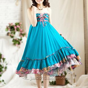 批发半身裙长裙 波西米亚长裙 民族风长裙 春夏季两穿长裙 8046
