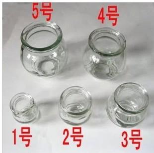 厂家直销加厚玻璃拔火罐 防暴拔火罐 真空拔火罐家庭套装一套5个