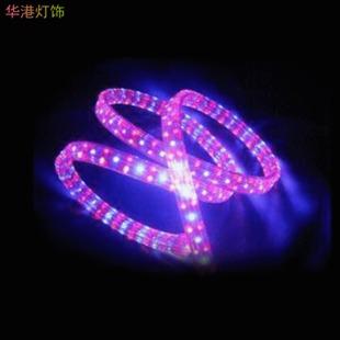 供应批发led彩虹管扁四线54珠/米背景灯光led灯带装饰灯