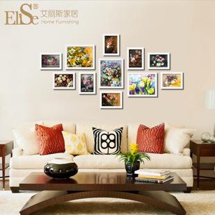 江苏常州装饰画 家居卧室沙发床背景墙画挂画 欧式花卉油画工艺品