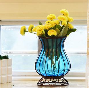 铁艺玻璃花瓶
