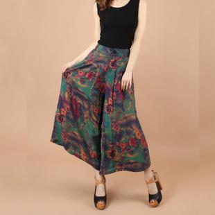 阔腿裤休闲裤女裤夏季薄长裤大码高腰裙裤夏装女裤高腰大码女裤