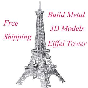 拼板 033d立体拼图建筑模型拼装精装巴黎埃菲尔