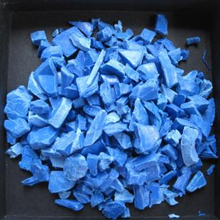 厂家直销 PVC蓝色水件料 破碎料 再生料