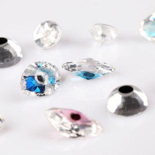 锆石玩具眼 梧州人造宝石锆石 带眼锆石 AAA马眼锆石 锆石眼