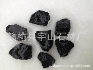黑玉 黑色碎石 黑色毛石 黑石子 水磨石 建筑石 黑色矿石 山石