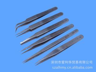 供应ST不锈钢镊子,直头, 弯头镊子, ST10~15镊子   直头镊子