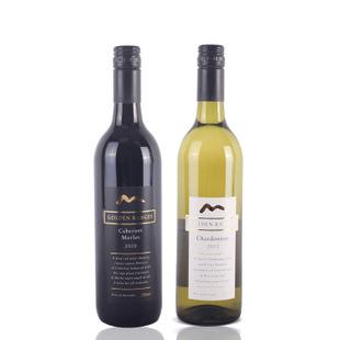 原装葡萄酒套装金色年华赤霞珠梅洛干红葡萄酒霞多丽干白葡萄酒