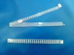 厂家自销高韧性V26透明塑料夹26孔塑料夹透明塑料夹
