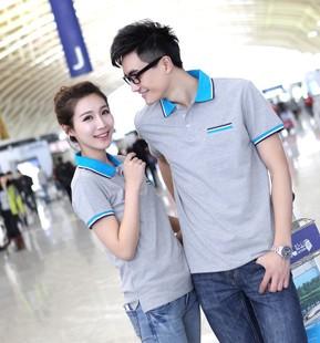 夏季T恤新款 男女式休闲翻领短袖 广告衫可定做加印logo 清仓热卖