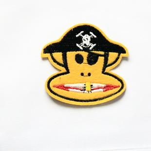 大嘴猴布贴背胶可熨烫贴牛仔裤子帽子海盗版大嘴猴补丁贴批发订做
