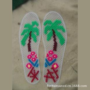 鞋垫厂家批发 地摊新产品十字绣鞋垫