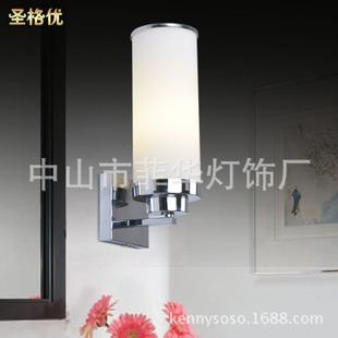现代中式壁灯 客房过道卧室床头单头壁灯 卫生间镜前灯