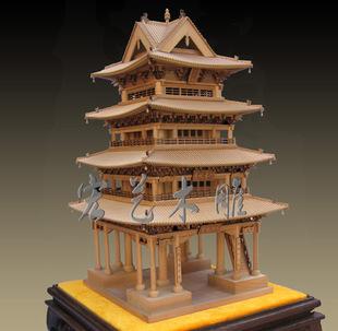 古建筑模型 孝义中阳楼 创意礼品