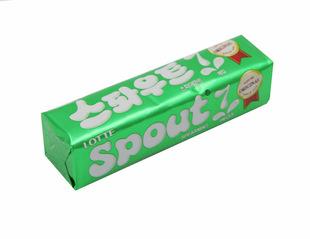 韩国原装进口乐天spout口香糖清凉薄荷味23.8g 进口糖果巧克力