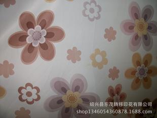 各类窗帘布转移印花加工-转移印各类小清新类花型