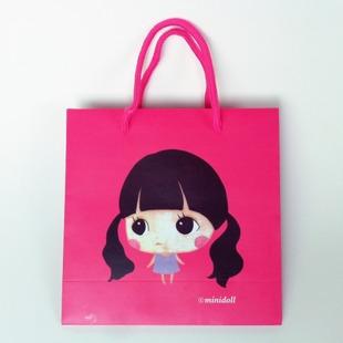 【现货供应】创意 可爱纸袋 韩版女孩礼品袋 卡通手提袋 袋子批发