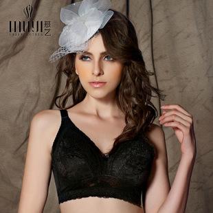 全罩杯无钢圈薄款棉调整型文胸内衣 背心式大码蕾丝文胸 品牌文胸