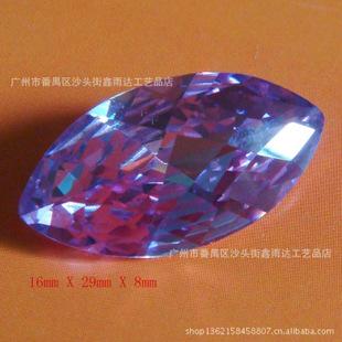 精品梧州锆石各种颜色AAA品质锆石宝石工艺品 人造宝石马眼形