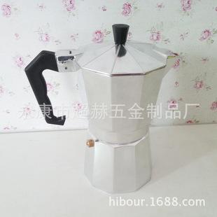 厂家直销意式摩卡铝制咖啡壶9杯普通铝咖啡壶摩卡咖啡壶