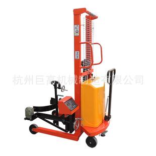 杭州厂家直供半电动油桶车-电动提升-手动翻转-电子