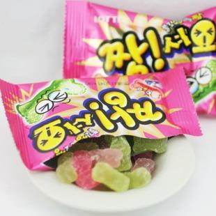 乐天水果QQ糖 韩国进口食品 QQ糖 水果味软糖 酸酸甜甜